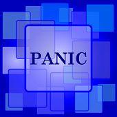 stock photo of panic  - Panic icon - JPG