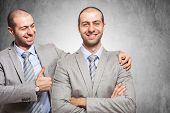 pic of congratulations  - Smiling businessman congratulating with himself - JPG