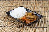 stock photo of pork  - Japanese pork curry with rice carrotonion and potato  - JPG
