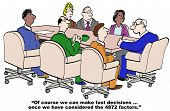 picture of leader  - Cartoon of businessman leader saying to staff - JPG