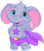 picture of heroes  - Illustration of Super Hero Elephant - JPG