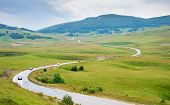 picture of rainy day  - Country road in Bosnia and Herzegovinain the rainy day - JPG