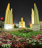 foto of democracy  - The Democracy Monument is a public monument in the centre of Bangkok capital of Thailand - JPG