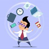 picture of juggler  - Office worker planning time juggler businessman - JPG