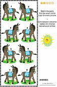 picture of donkey  - Visual puzzle - JPG