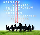 picture of scrabble  - Customer Service Quality Satisfaction Crossword Puzzle Concept - JPG