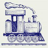 stock photo of locomotive  - Wild West steam locomotive - JPG