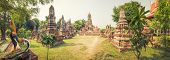 picture of buddha  - Buddha statue in Wat Cherng Tha - JPG