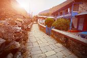 stock photo of sherpa  - Village in  Nepal - JPG