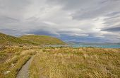 picture of lagos  - Storm Clouds over Lago Pehoe in Torres del Paine National Park in the Patagonian highlands of Chile - JPG