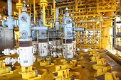 foto of offshore  - Oil and gas production slot on the platform - JPG