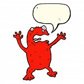 picture of poison  - cartoon poisonous frog with speech bubble - JPG