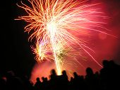 stock photo of guy fawks  - fireworks celebrations on halloween and guy fawkes night - JPG