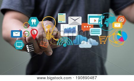 poster of Digital Marketing New Startup Project ,  Interactive Channels , Business Innovation Technology Work