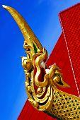 Drake Incision Roof Red Wat  Palaces   Bangkok  Asia And Sky poster