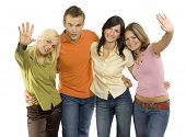 stock photo of young adult  - Group of young people - JPG