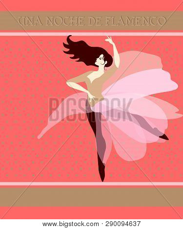 Young Spanish Ballerina With Flowing