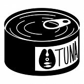 Tuna Tin Icon. Simple Illustration Of Tuna Tin Vector Icon For Web Design Isolated On White Backgrou poster