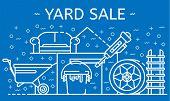 Yard Sale Banner. Outline Illustration Of Yard Sale Vector Banner For Web Design poster