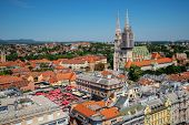 Aerial View Zagreb City, Capital Of Croatia. poster