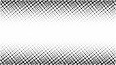 Halftone Gradient Pattern. Abstract Halftone Dots Background. Monochrome Dots Pattern. Grunge Vector poster