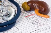 Kidney Problem Symptom Concept Photo. Highlighted Of Permanent Marker Inscription Symptom Of Kidney  poster