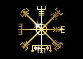 Decoding The Ancient Of The Symbols Norsemen. Vegvisir Viking Golden Compass. The Vikings Used Many  poster