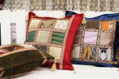 Colorful Oriental Arabic Pillows poster