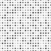 Black And White Seamless Pattern With Grunge Halftone Dots. Dotted Texture. Halftone Dots Background poster