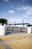 stock photo of guayaquil  - malecon 2000 boardwalk outdoor park guayaquil ecuador with people walking by the river south america - JPG
