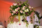 picture of flower arrangement  - Wedding colorful bouquet - JPG