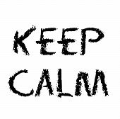 Keep Calm Stamp On White Background Flat Illustration poster