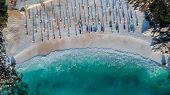 Marble Beach (saliara Beach), Thassos Islands, Greece. The Most Beautiful White Beach In Greece poster