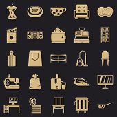 Domesticity Icons Set. Simple Set Of 25 Domesticity Vector Icons For Web For Any Design poster
