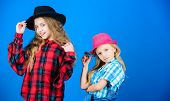 Following Sister In Everything. Girls Kids Wear Fashionable Hats. Small Fashionista. Cool Cutie Fash poster
