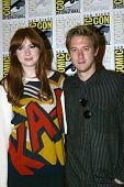 SAN DIEGO, CA - JULY 15: Karen Gillan and Arthur Darvill arrive at the 2012 Comic Con convention pre