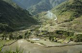 picture of ifugao  - ifugao rice terraces cut into the steep mountain sides of banaue province in northenr luzon in the philippines - JPG