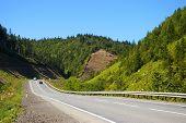 foto of sakhalin  - The Mountain road on island Sakhalin by summer - JPG