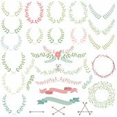 stock photo of laurel  - Vector Collection of Laurels - JPG
