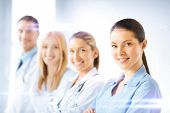 stock photo of medicare  - healthcare and medicine concept  - JPG