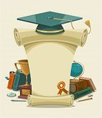 Diploma certificate. Vector illustration.
