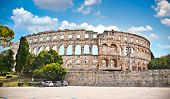 Roman amphitheatre (Arena) in Pula. It was constructed in 27 BC - 68 AD and is among six largest sur