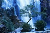 pic of waterfalls  - Australia waterfall in forest - JPG