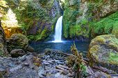 foto of dam  - Wahclella Falls  located in the Columbia River Gorge near Bonneville Dam on the Oregon side of the river - JPG