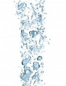 image of rough-water  - Isolated water bubbles on white background - JPG