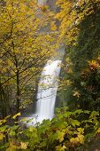 Multnomah Falls in Portland, Oregon, Autumn