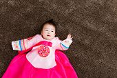 foto of hanbok  - Korean little baby girl - JPG