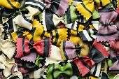 image of pene  - Background image of colorful italian homemade pasta background - JPG