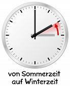 foto of daylight saving time  - vector illustration of a clock return to standard time