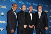 LOS ANGELES - JAN 25:  Paris Barclay, Steven Soderbergh, Michael Apted, Taylor Hackford at the DGA A